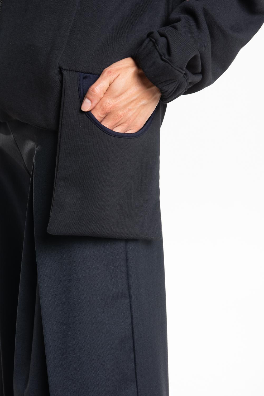 Felpa unisex manica raglan