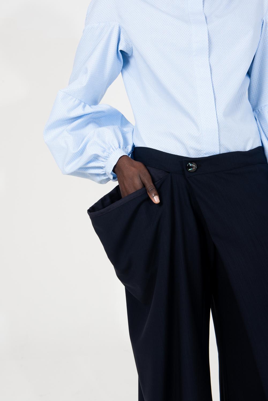 pantalone da donna con tasca 3D