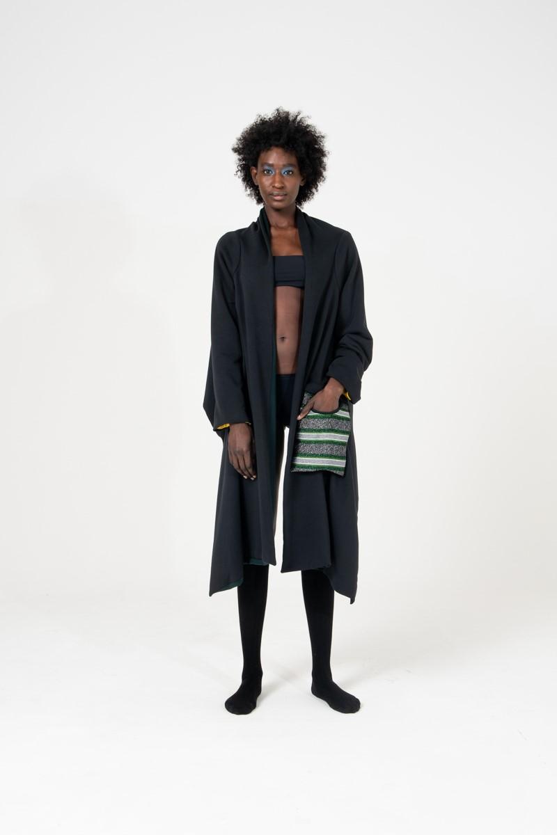 Cardigan in caldo cotone felpato