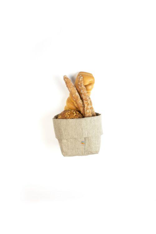 Cestino porta pane in lino